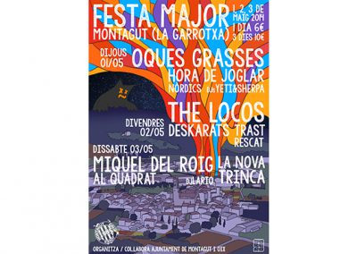 Festa Major de Montagut '14. Nits